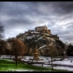 Snow in Princes St Gardens